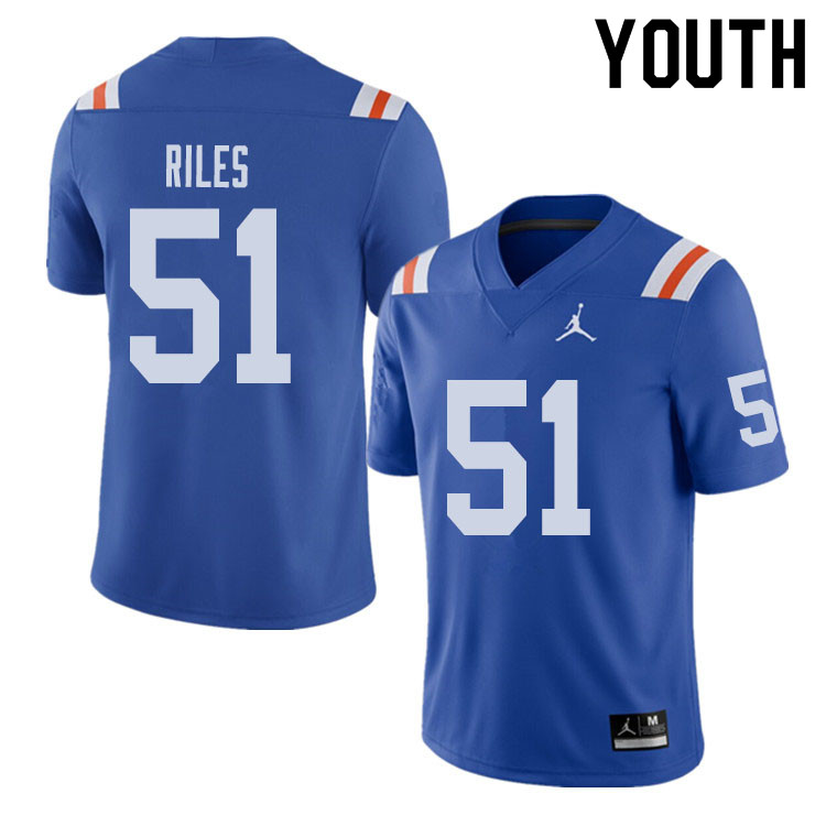 Jordan Brand Youth #51 Antonio Riles Florida Gators Throwback Alternate College Football Jerseys Sal