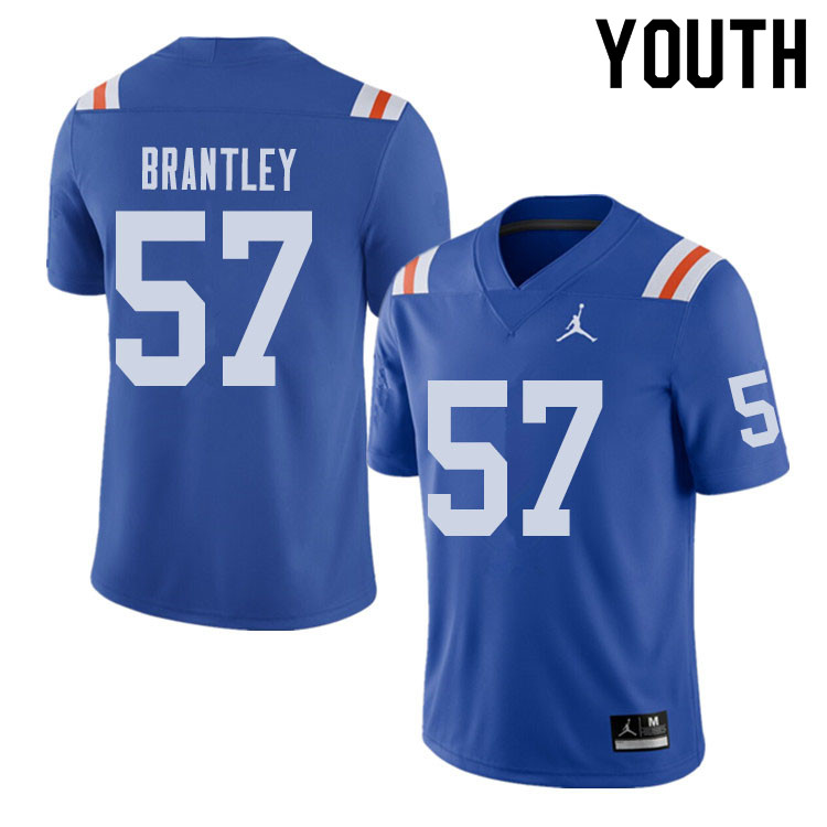 Jordan Brand Youth #57 Caleb Brantley Florida Gators Throwback Alternate College Football Jerseys Sa