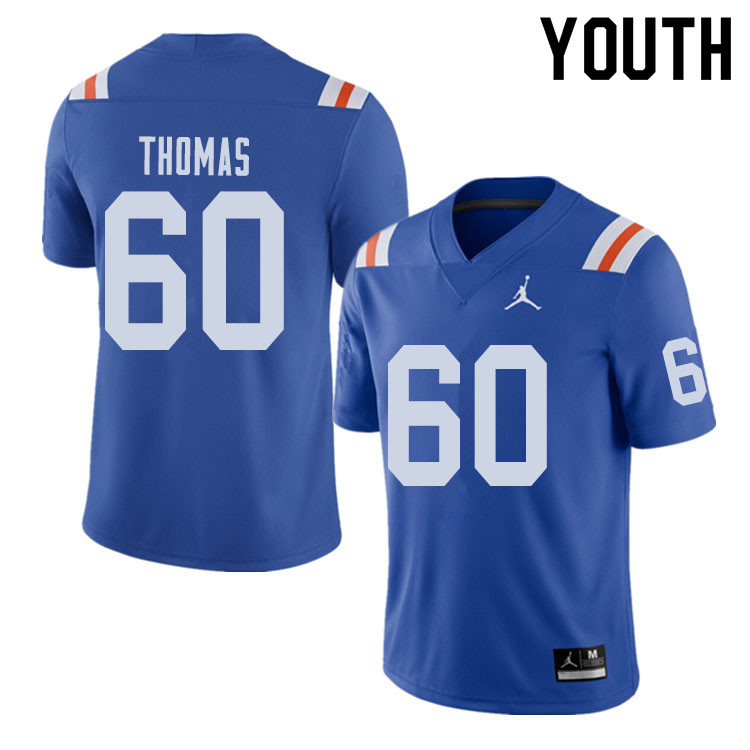 Jordan Brand Youth #60 Da'Quan Thomas Florida Gators Throwback Alternate College Football Jerseys Sa