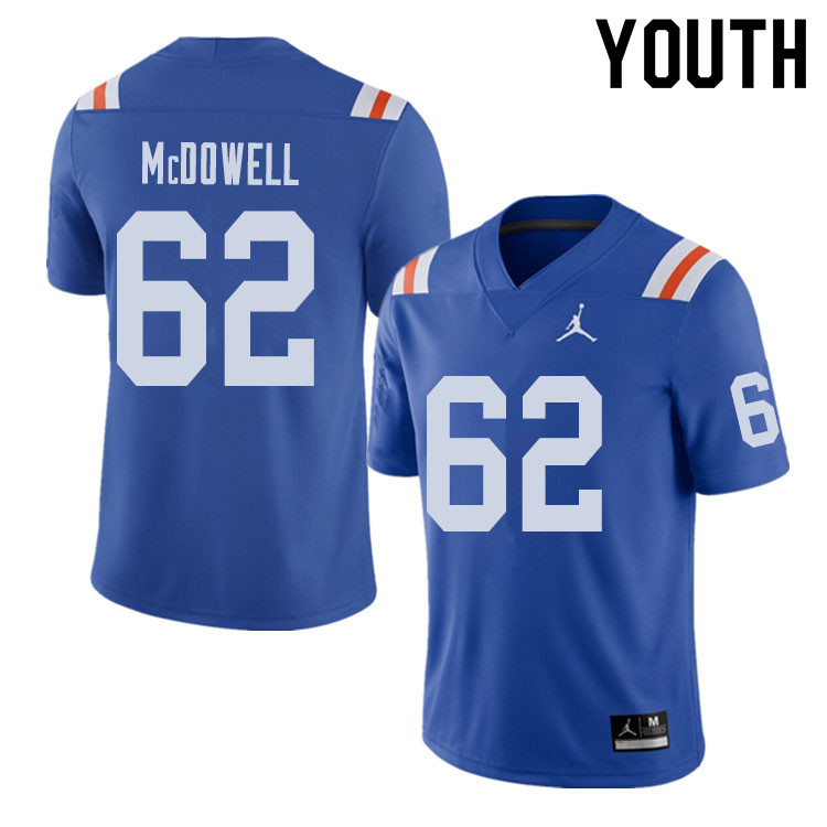 Jordan Brand Youth #62 Griffin McDowell Florida Gators Throwback Alternate College Football Jerseys