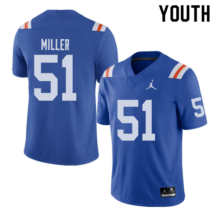 Jordan Brand Youth #51 Ventrell Miller Florida Gators Throwback Alternate College Football Jerseys S